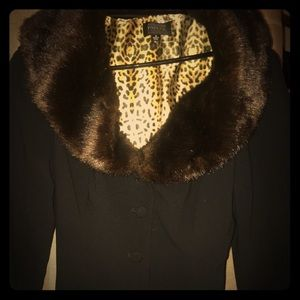 Gorgeous Adriana Papell dressy faux fur jacket